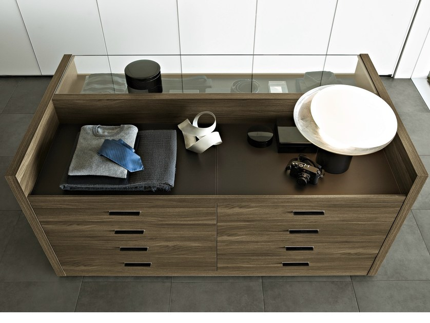 Wooden chest of drawers TWEED by poliform