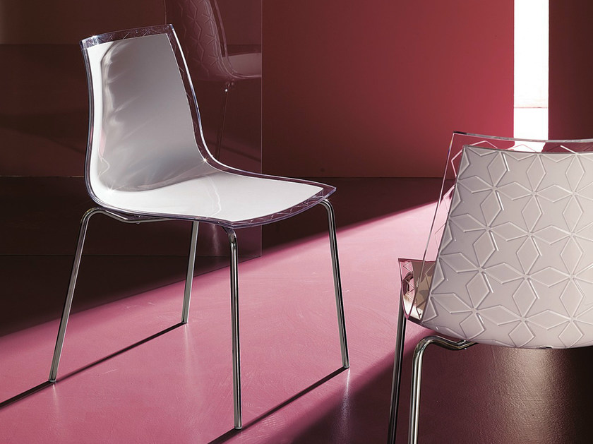 Polycarbonate chair LEYLA | Chair by Bontempi