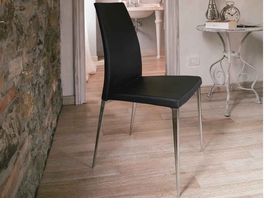 Leather chair MISS   Upholstered chair by Bontempi
