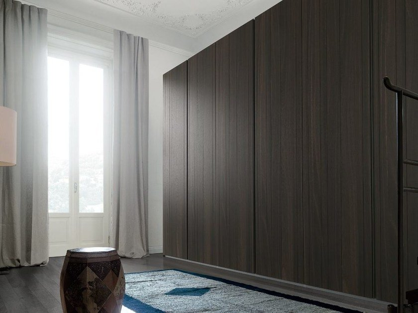 Sectional wooden wardrobe STRATUS by poliform