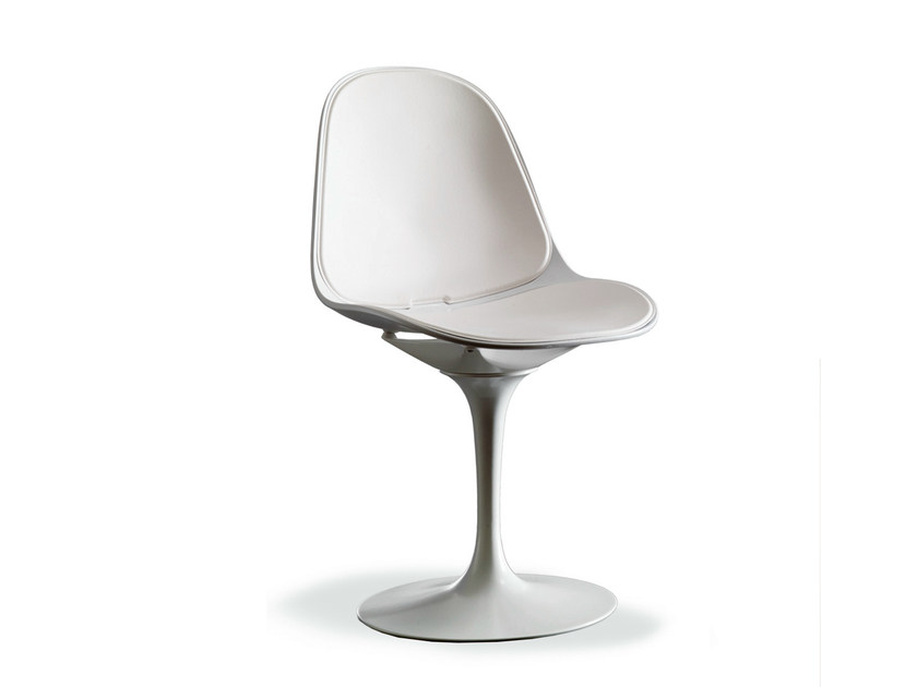 Swivel leather chair NICLA by Bontempi