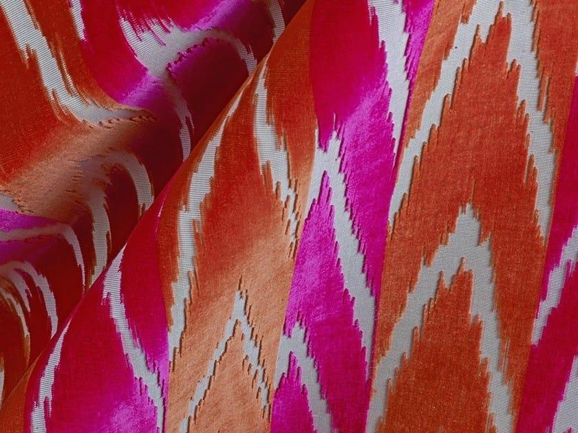 Jacquard velvet fabric with graphic pattern COUP DE FOUDRE by Dedar