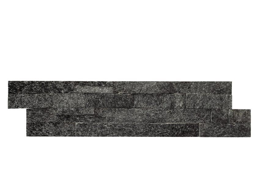 Outdoor quartzite wall tiles QUARZITE NERA by GRANULATI ZANDOBBIO