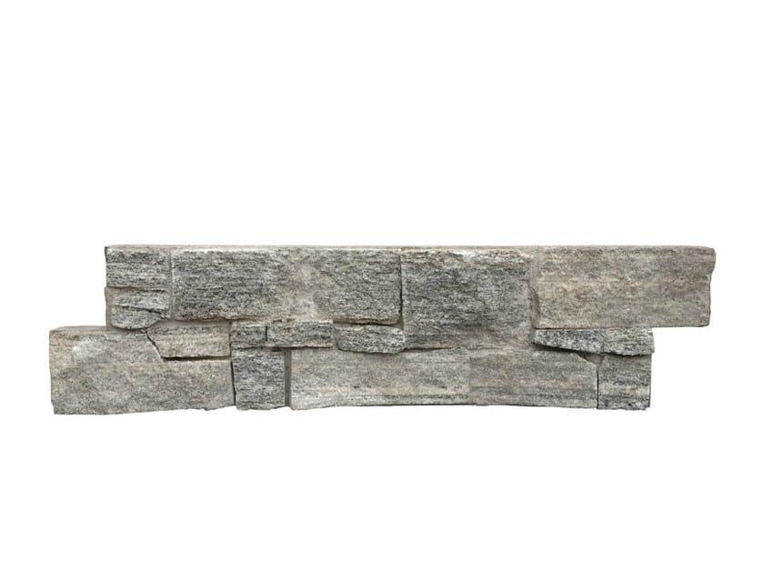 Outdoor natural stone wall tiles GNEISS GRIGIO by GRANULATI ZANDOBBIO