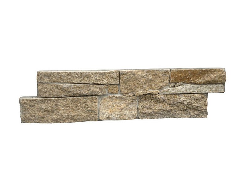 Outdoor natural stone wall tiles GNEISS GIALLO by GRANULATI ZANDOBBIO