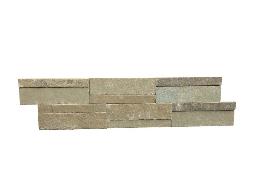 Outdoor natural stone wall tiles KOTA YELLOW | Wall tiles by GRANULATI ZANDOBBIO