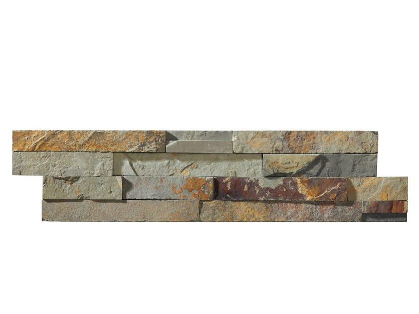 Outdoor slate wall tiles ARDESIA MULTICOLOR   Wall tiles by GRANULATI ZANDOBBIO