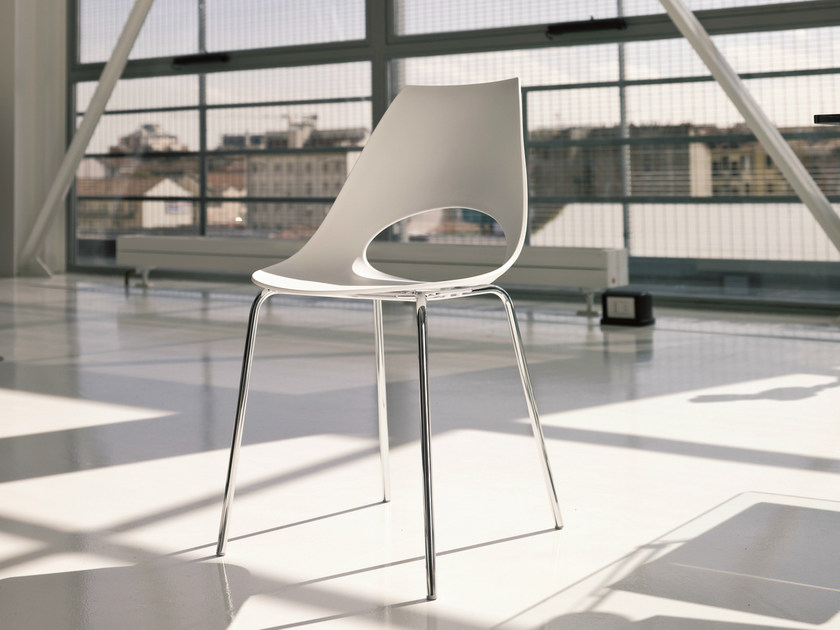 Stackable polypropylene chair SHARK | Stackable chair by Bontempi