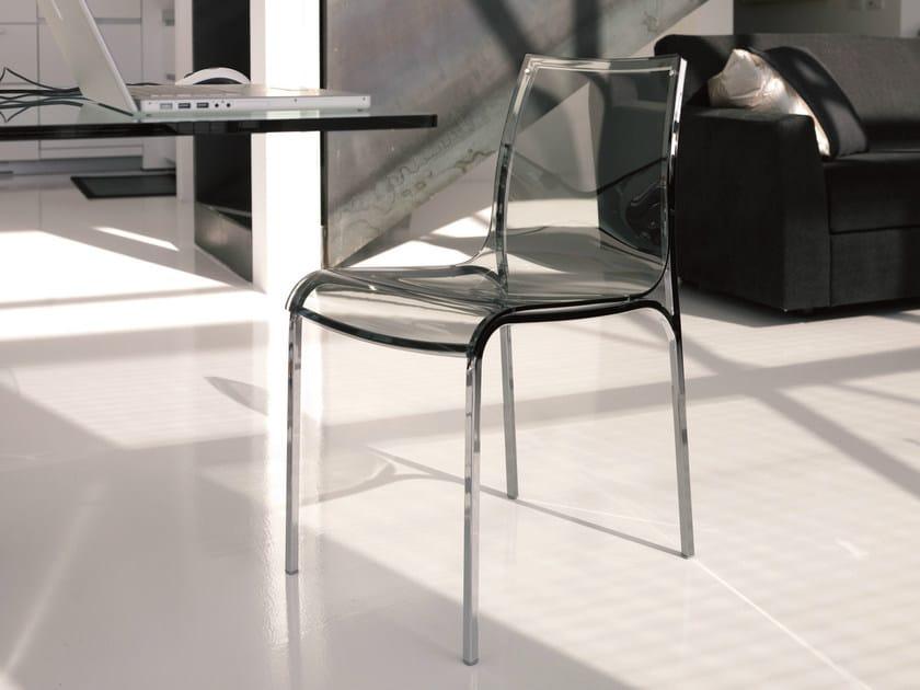 Acrylic glass chair YOGA by Bontempi