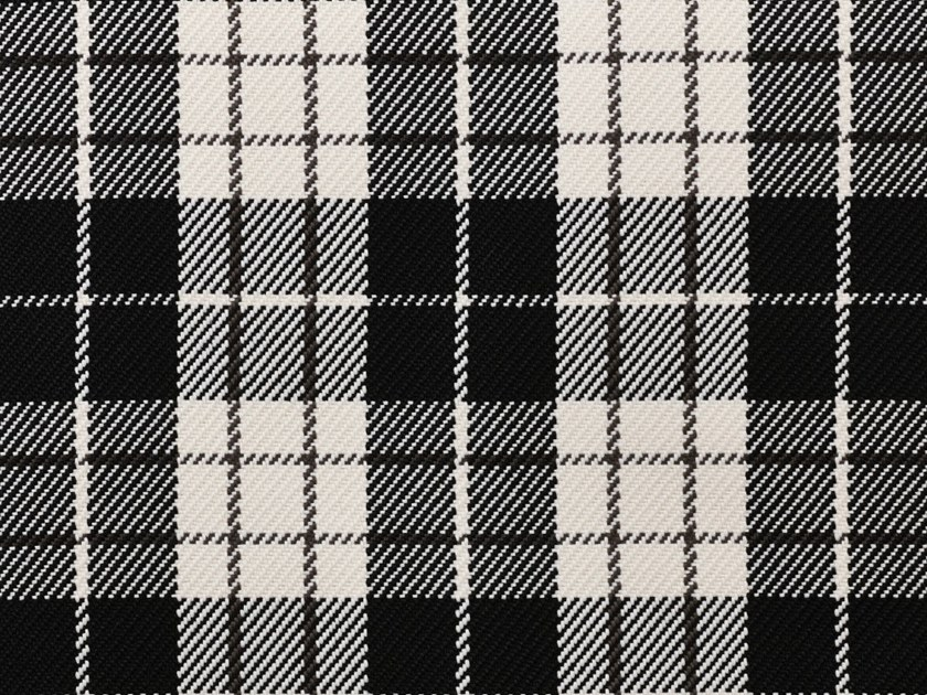 Check washable tartan synthetic fibre fabric PLAID by Dedar