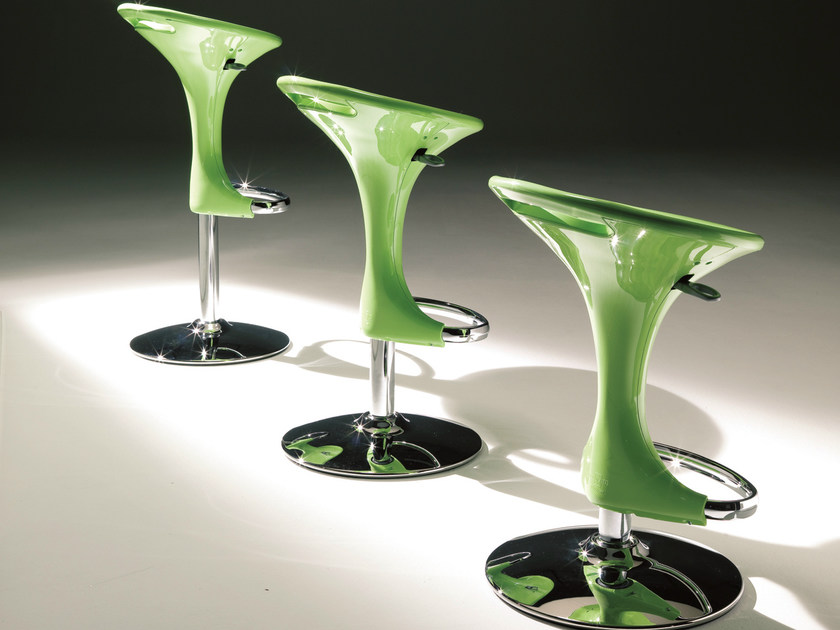 Swivel height-adjustable stool DISCOVERY by Bontempi