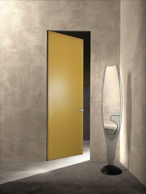 ESSENTIAL | Porta a battente Porta a filo muro - Essential battente giallo Ginestra laccato opaco