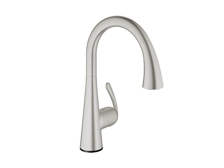 Electronic single-lever sink mixer ZEDRA TOUCH | Brushed-finish kitchen mixer tap by Grohe