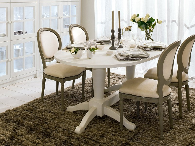 Classic style solid wood table ENGLISH MOOD | Oval table by Minacciolo