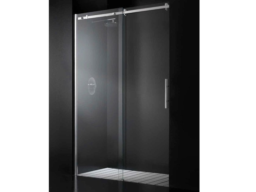 Niche glass shower cabin with tray with sliding door ELITE G11 by RARE