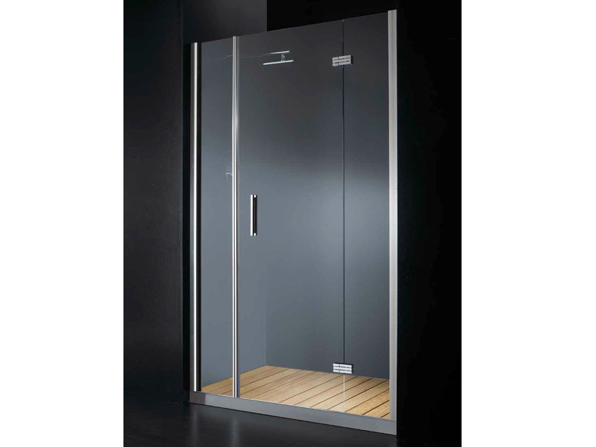 Niche glass shower cabin with hinged door with tray ELITE B09 by RARE