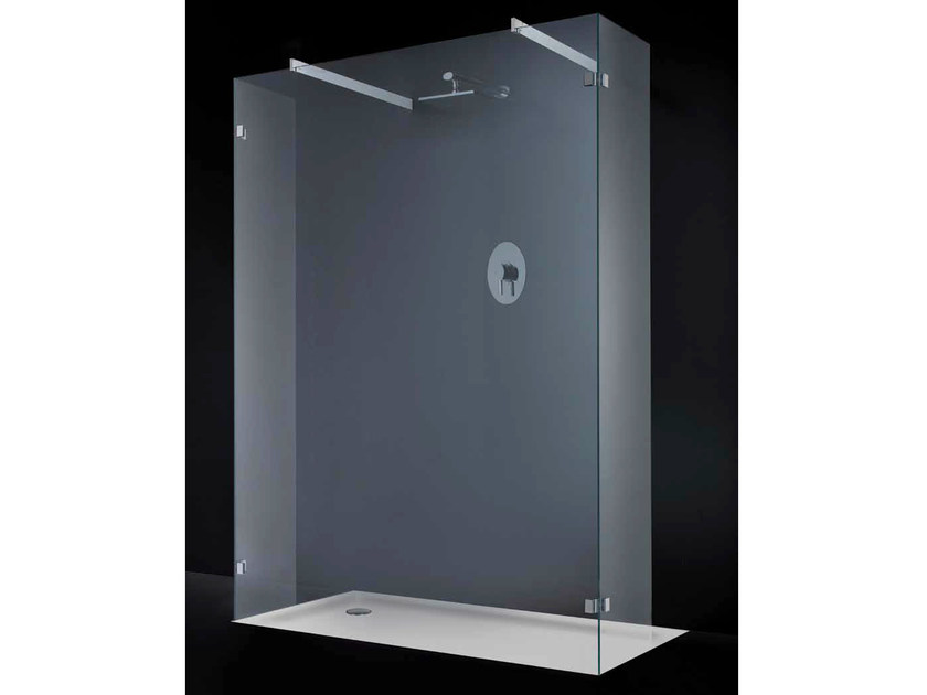 Crystal shower wall panel OPEN SPACE F06 by RARE