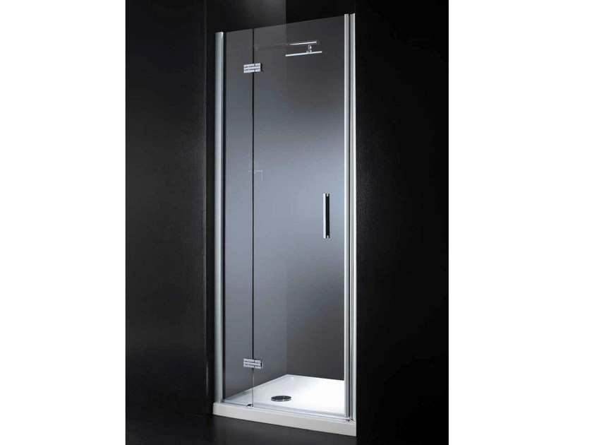 Niche rectangular crystal shower cabin with hinged door RETTANGOLO B08 by RARE