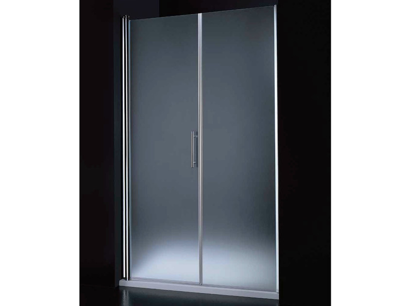 Niche tempered glass shower cabin with hinged door SEGNO B07 F by RARE