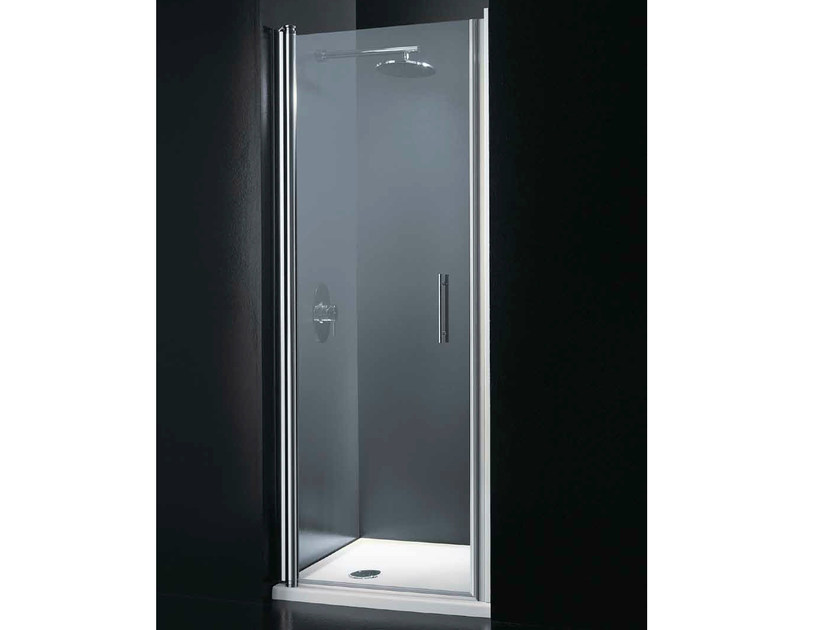 Niche tempered glass shower cabin with hinged door SEGNO B06 by RARE