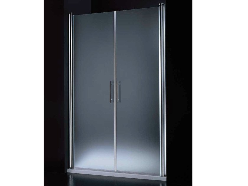 Niche tempered glass shower cabin with hinged door SEGNO B07 by RARE