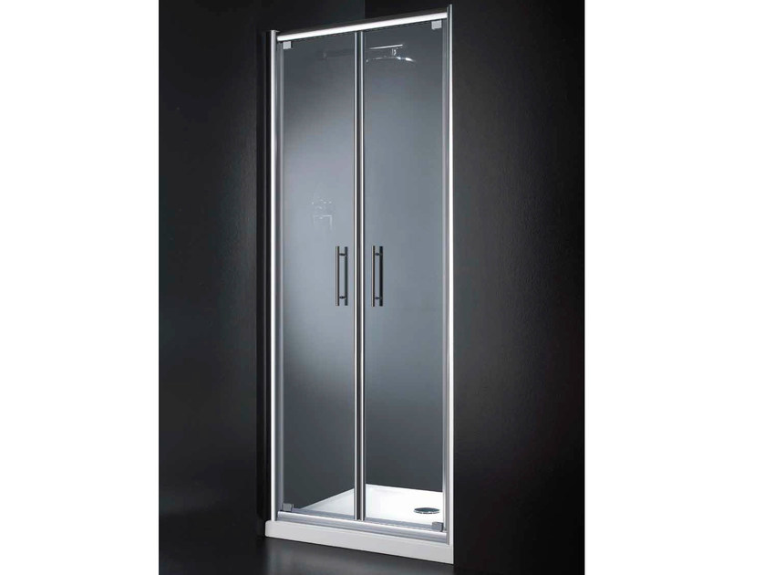 Niche glass shower cabin with hinged door INN B07 by RARE