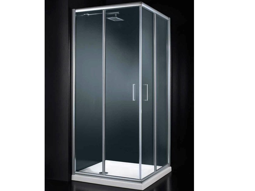 Corner glass shower cabin with sliding door GLASS A01 by RARE