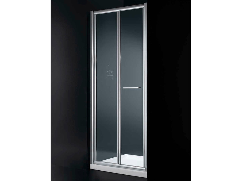 Niche shower cabin with folding door GLASS B02 by RARE