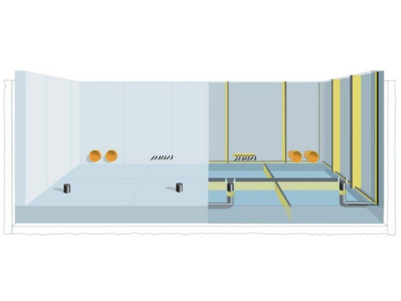 Cement-based waterproofing system RASCOR® WHITE TANK by Rascor