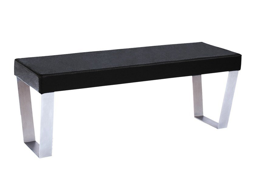 Upholstered leather bench WINSTAR by AZEA