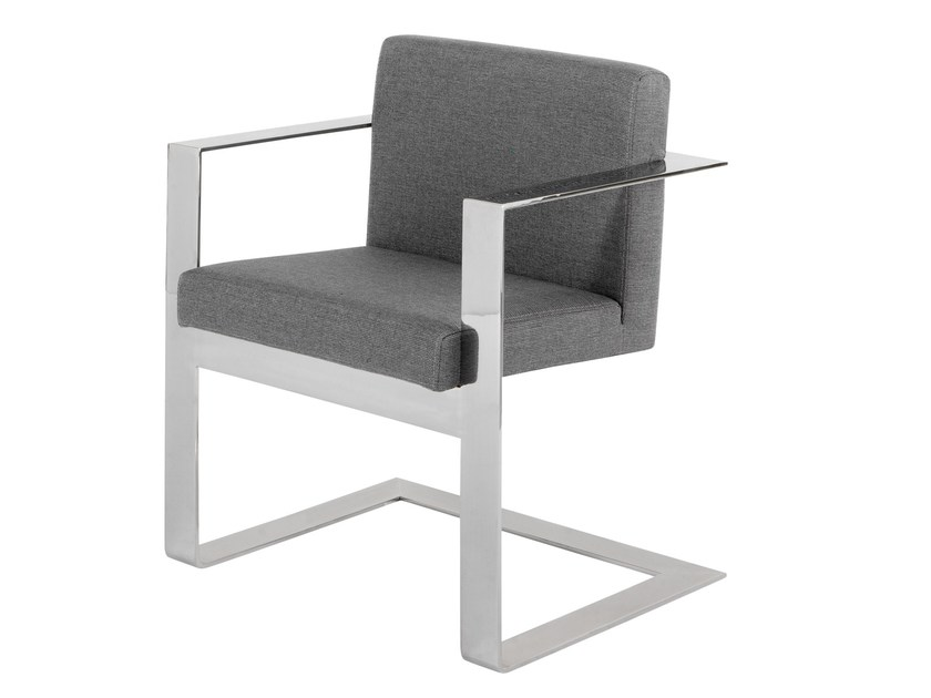 Cantilever upholstered fabric chair BALMORAL by AZEA