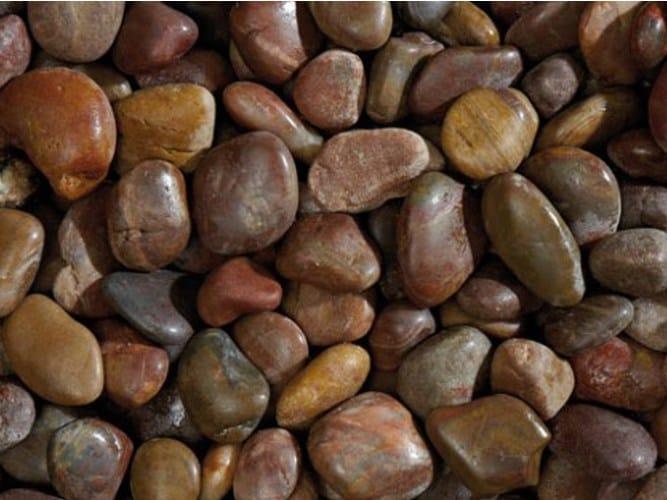 Natural stone decorative pebbles ROSSO LUCIDO by GRANULATI ZANDOBBIO