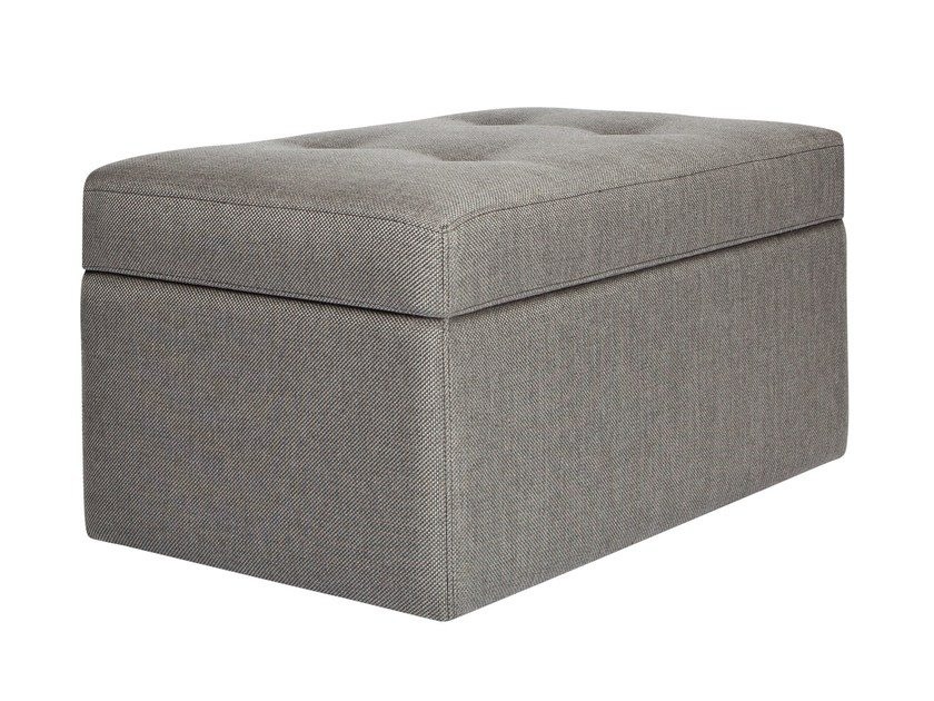 Storage upholstered fabric bench KANE by AZEA