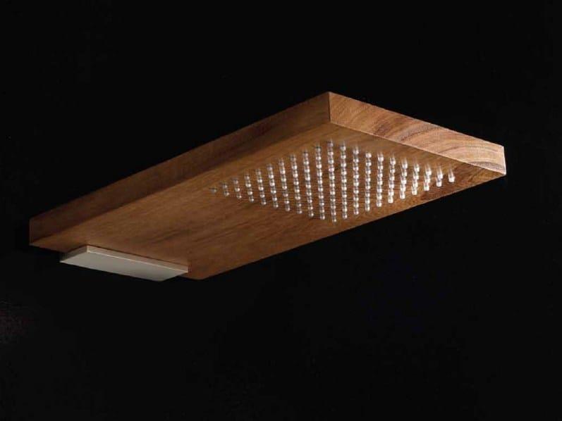 Wall-mounted solid wood rain shower OVERHEAD SHOWERS | Wall-mounted overhead shower by RARE