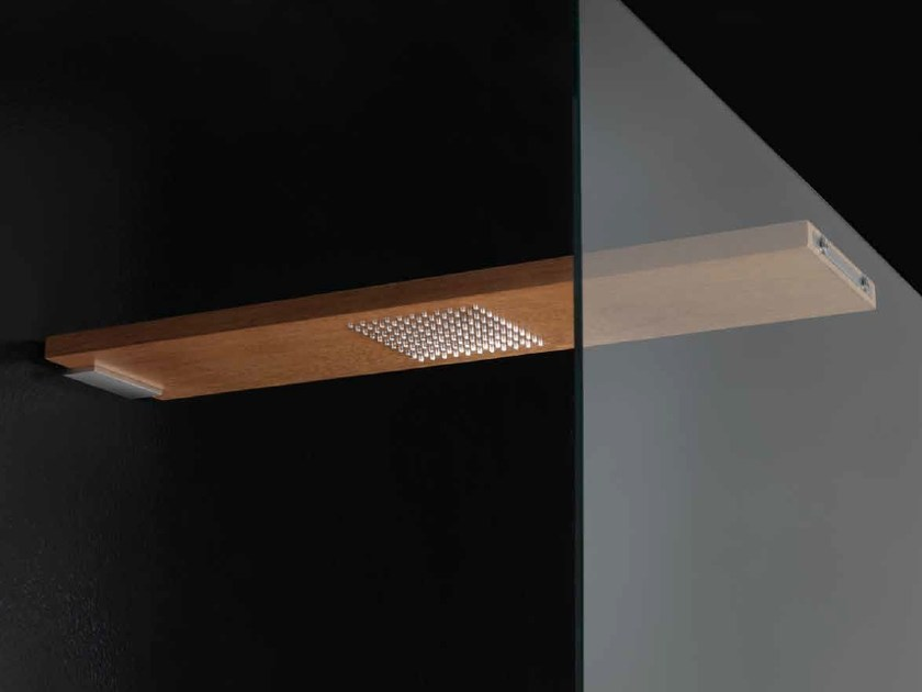 Wall-mounted solid wood rain shower OVERHEAD SHOWERS | Overhead shower by RARE