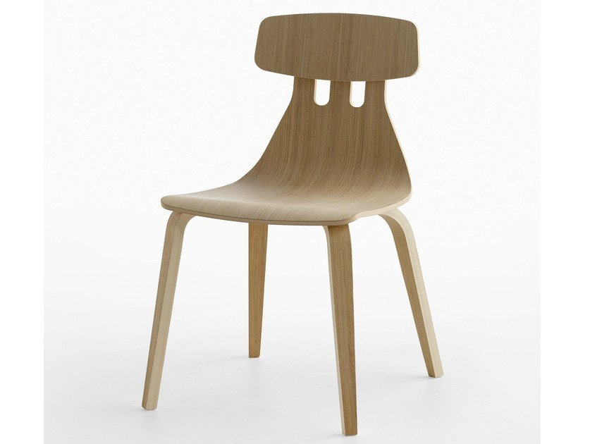 Multi-layer wood chair MILLA | Multi-layer wood chair by Crassevig