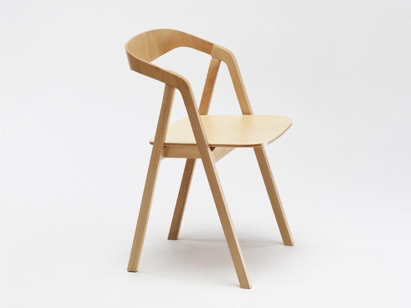 Stackable beech chair STA   Beech chair by Zilio A&C