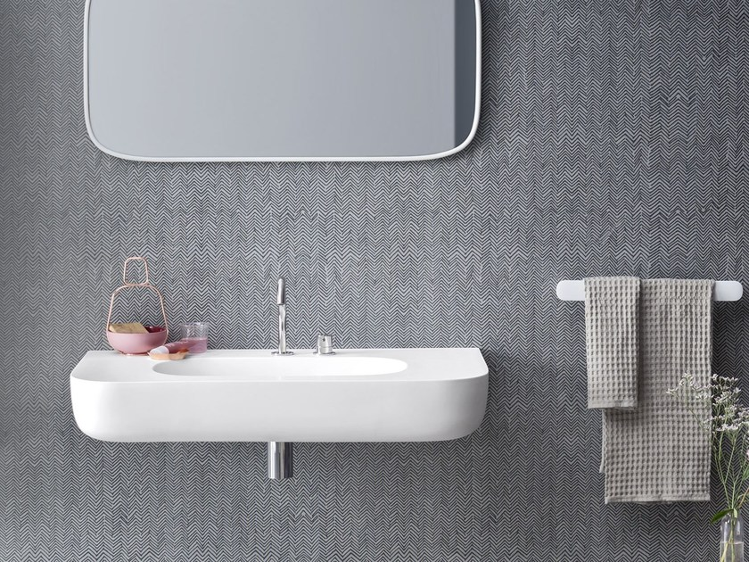 Lavabo in Corian® ESPERANTO | Lavabo sospeso by Rexa Design