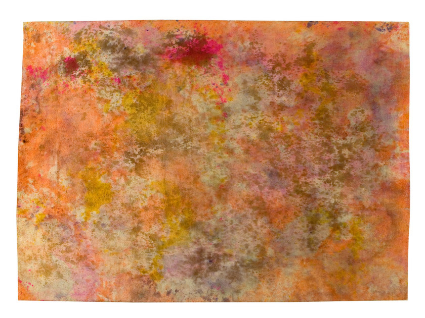 Vintage style handmade rectangular rug DECOLORIZED MULTICOLOR by Golran