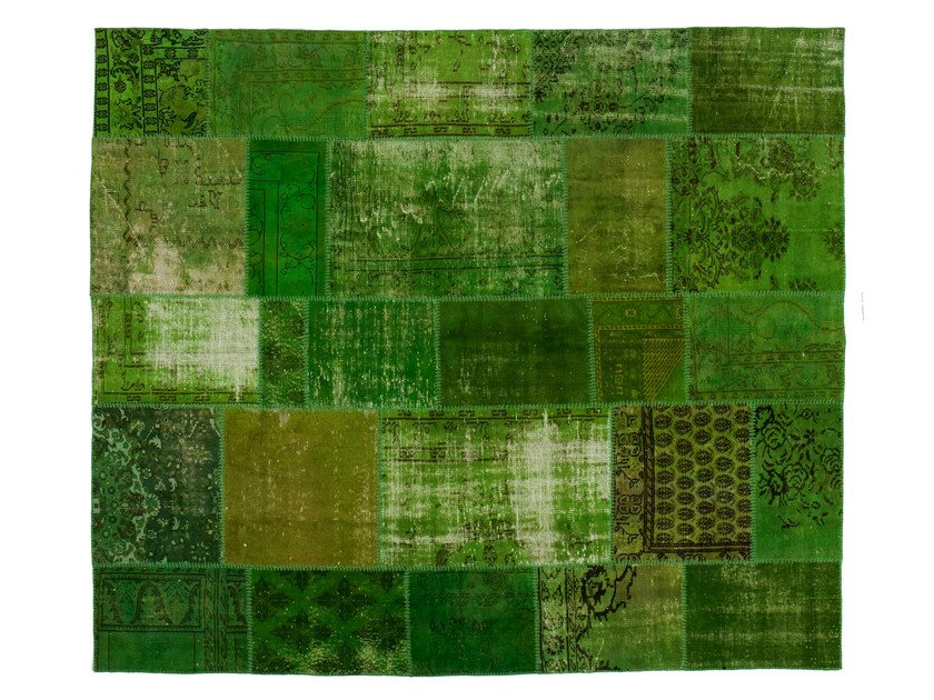 Vintage style patchwork rug PATCHWORK GREEN by Golran