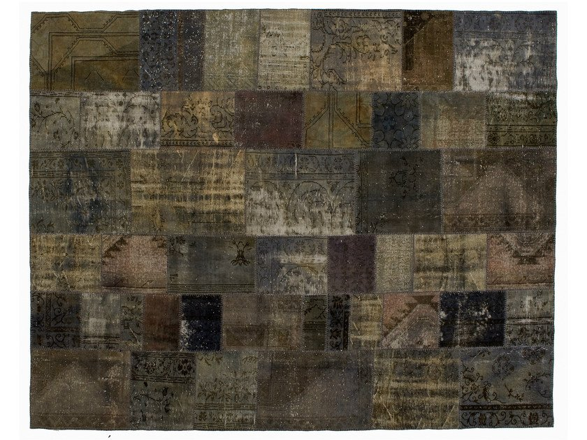 Vintage style patchwork rug PATCHWORK GREY by Golran