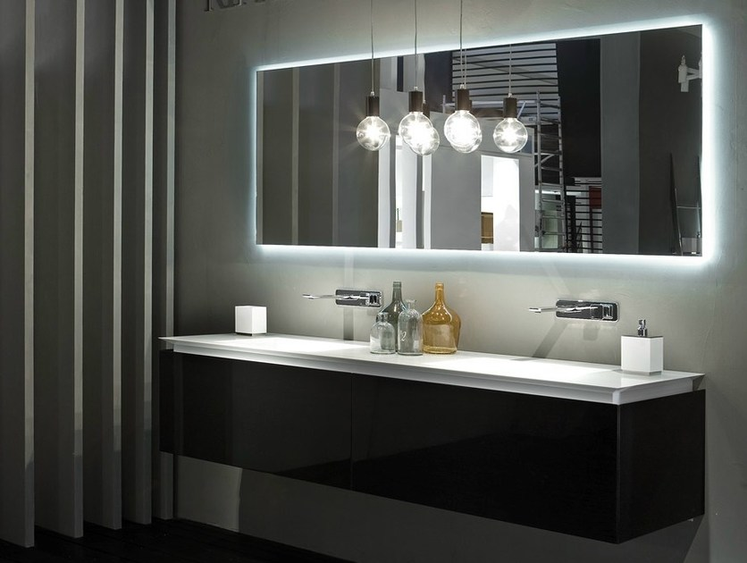 Double wall-mounted vanity unit K.FLY | Double vanity unit by RIFRA