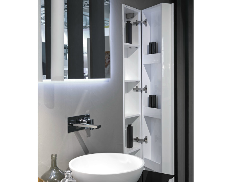 Tall bathroom cabinet IN&OUT by RIFRA