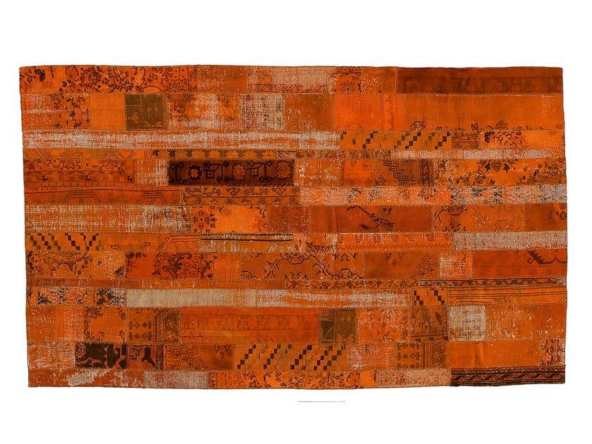 Vintage style patchwork rug PATCHWORK RESTYLED ORANGE by Golran