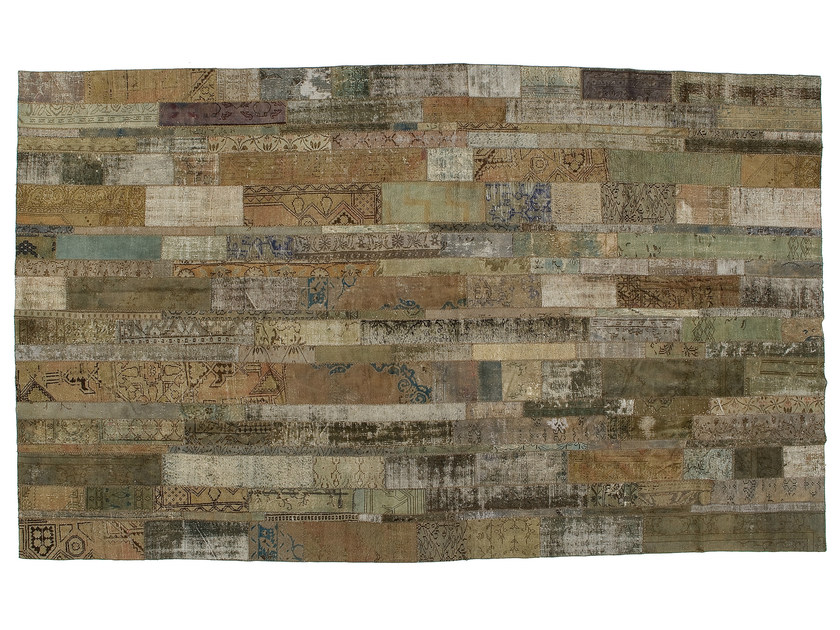 Vintage style patchwork rug PATCHWORK RESTYLED GREY by Golran