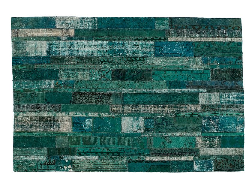 Vintage style patchwork rug PATCHWORK RESTYLED TURQUOISE by Golran