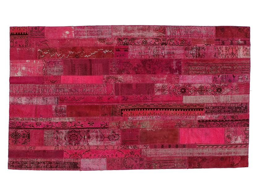 Vintage style patchwork rug PATCHWORK RESTYLED PINK by Golran
