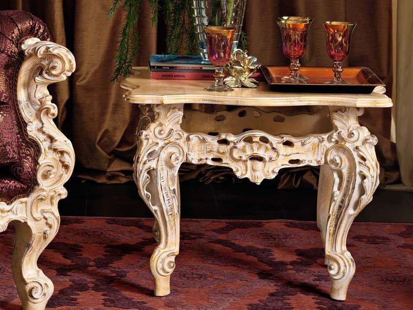 Low square solid wood coffee table 11620 | Coffee table by Modenese Gastone