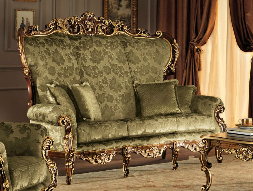 3 seater high-back fabric sofa 11420 | Sofa by Modenese Gastone