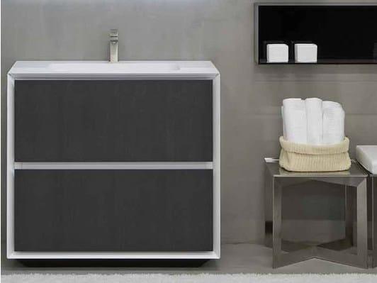 Lacquered single vanity unit K.ONE | Vanity unit by RIFRA